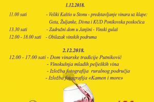 DANI OTVORENIH VRATA PELJEŠKIH PODRUMA 2018